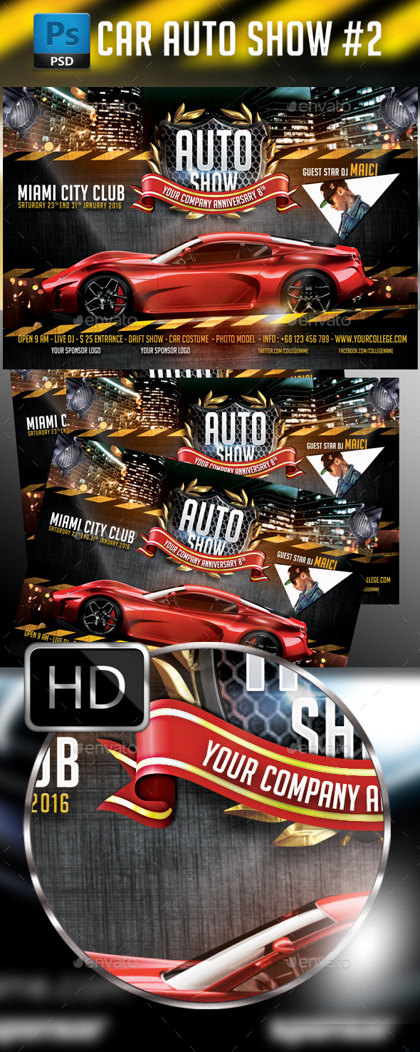 Auto Show Car Flyer Template - Events Flyers