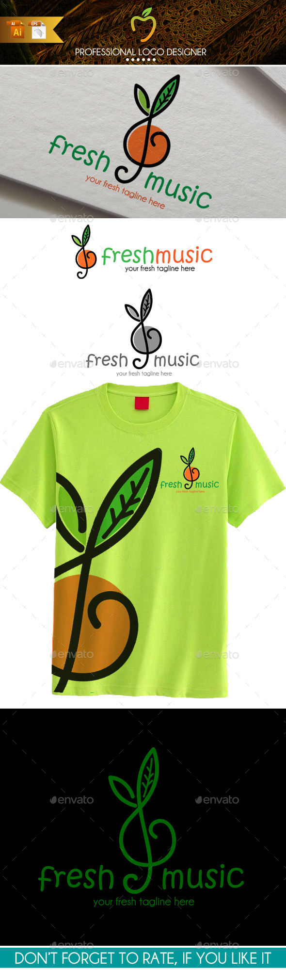 Fresh Music Logo - Symbols Logo Templates