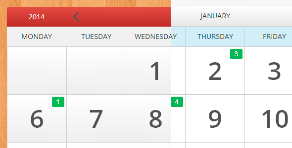 Ecalendar Responsive Events Calendar By Lettro Codecanyon