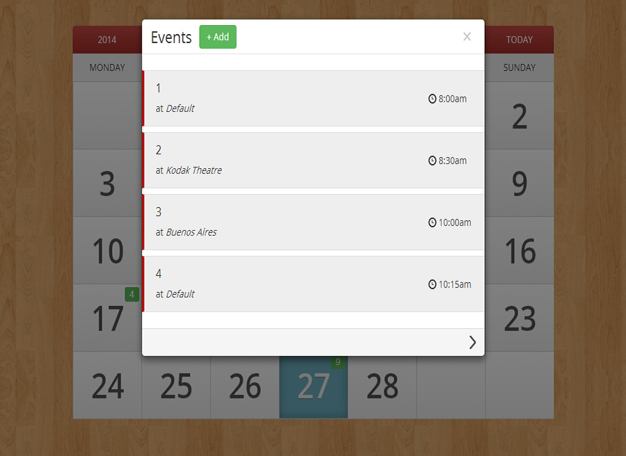 Ecalendar - Responsive Events Calendar By Lettro | Codecanyon