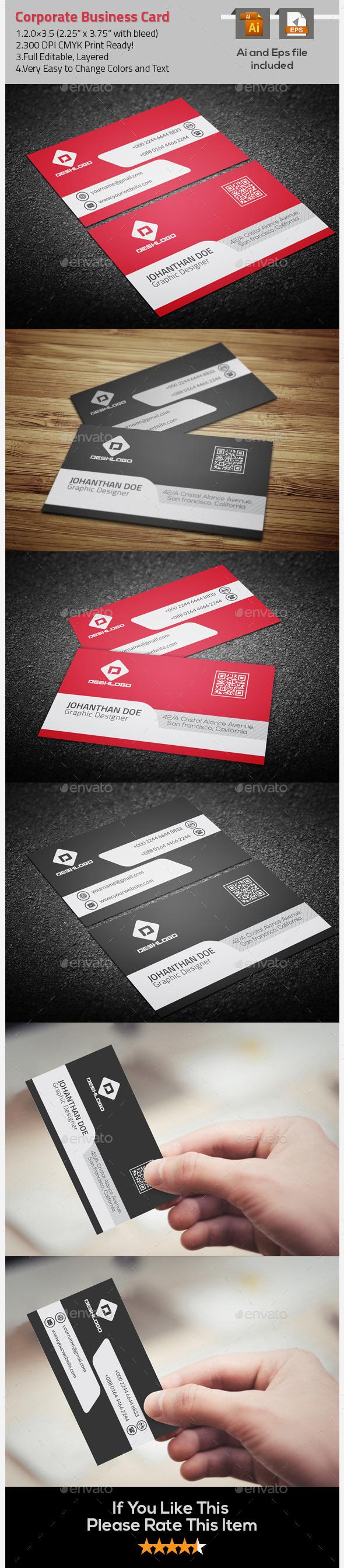 Nice & Simple Corporate Business Card - Corporate Business Cards