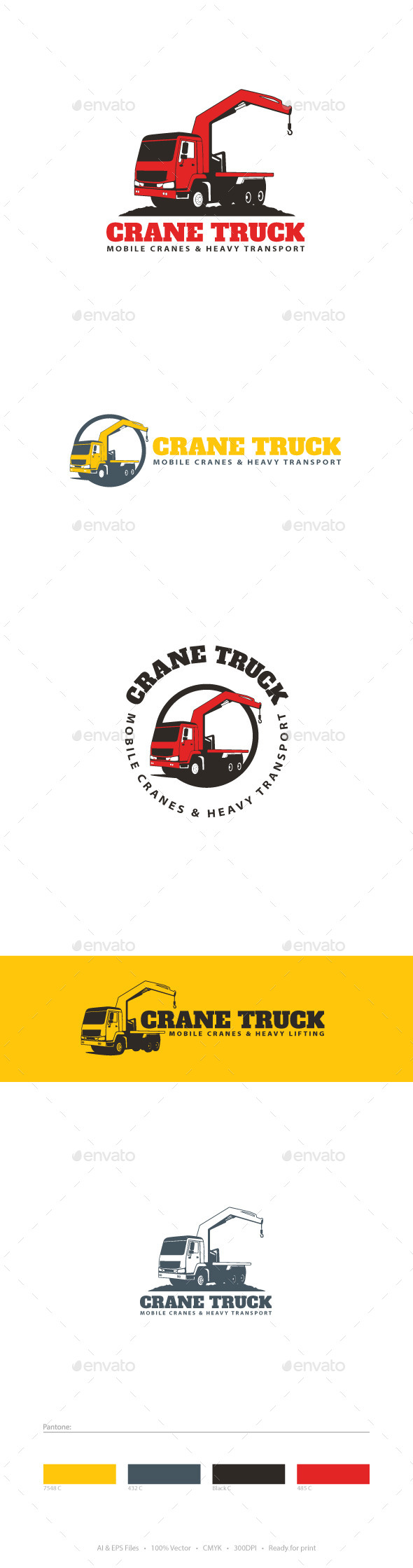 Crane Truck Logo Template - Objects Logo Templates