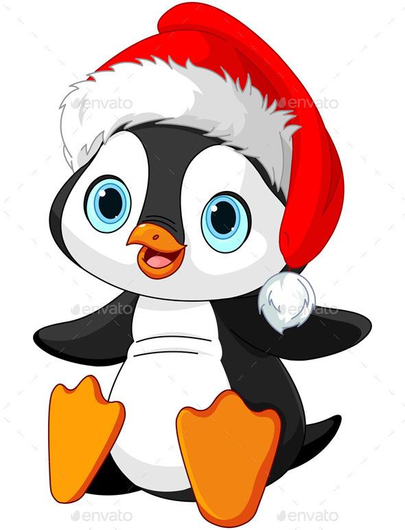 Christmas Penguin  - New Year Seasons/Holidays