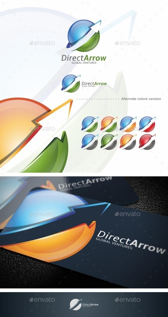 Direct Arrow - Logo Template - Symbols Logo Templates
