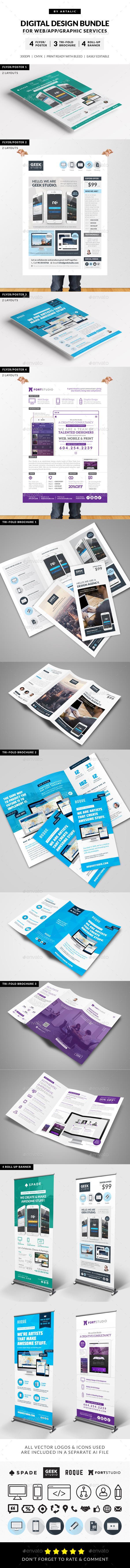 Digital Design Services Bundle - Print Templates