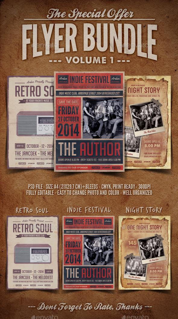 Flyer Bundle Vol.1 - Concerts Events