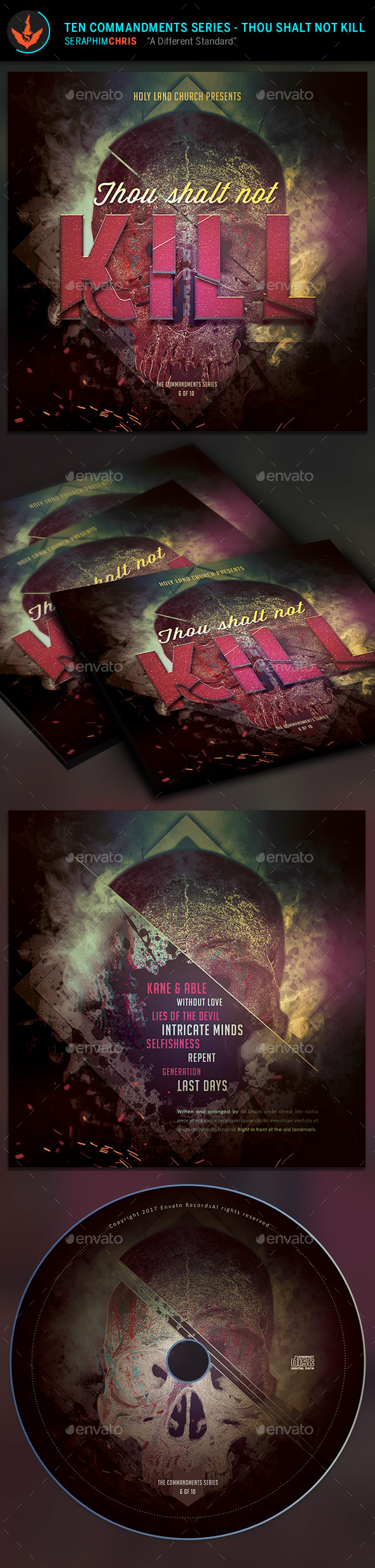 Thou Shalt Not Kill: CD Artwork Template - CD & DVD Artwork Print Templates