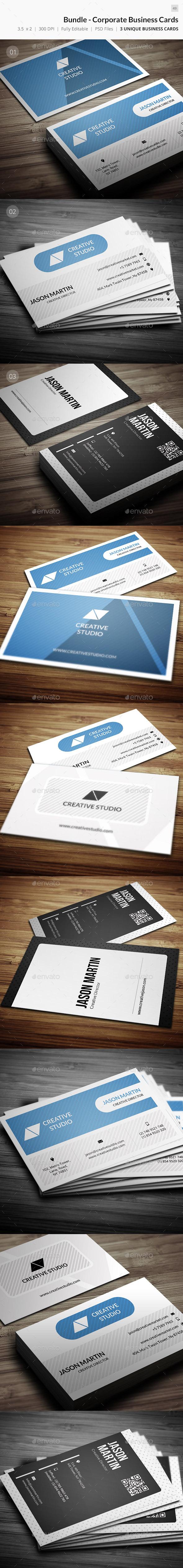 Bundle - Corporate Business Cards - 49 - Corporate Business Cards