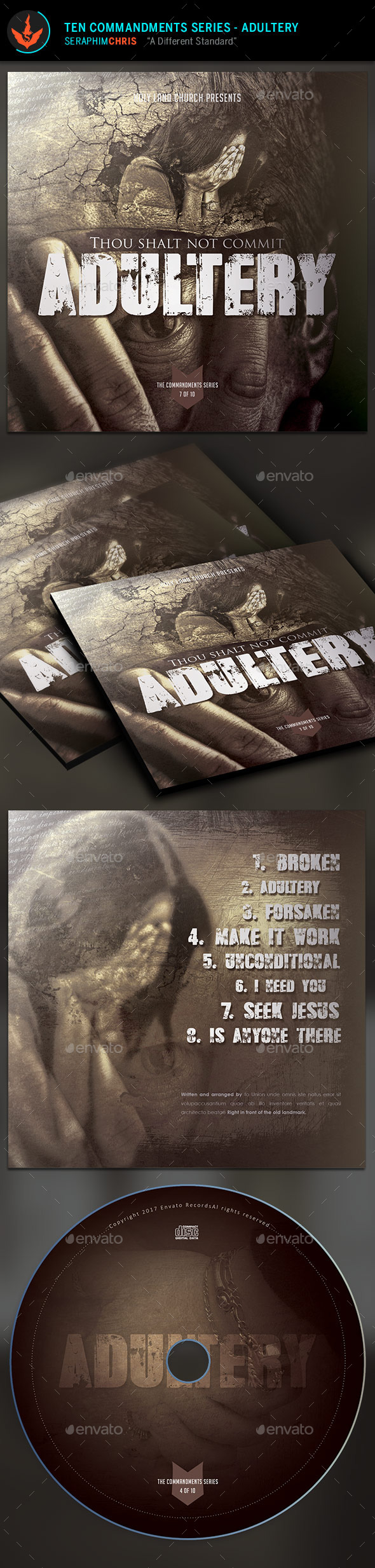 Adultery: CD Artwork Template - CD & DVD Artwork Print Templates