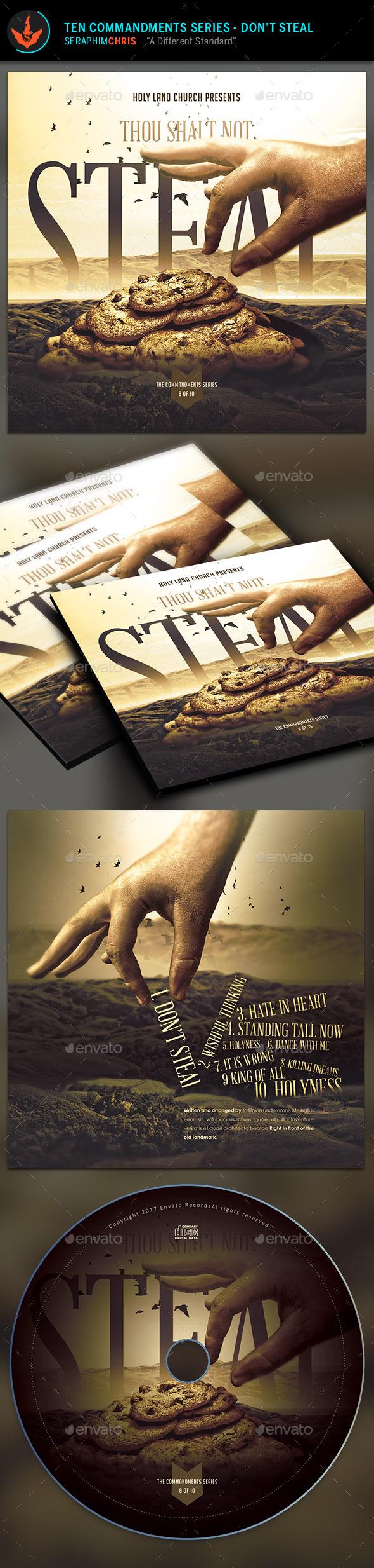 Thou Shalt Not Steal: CD Artwork Template - CD & DVD Artwork Print Templates