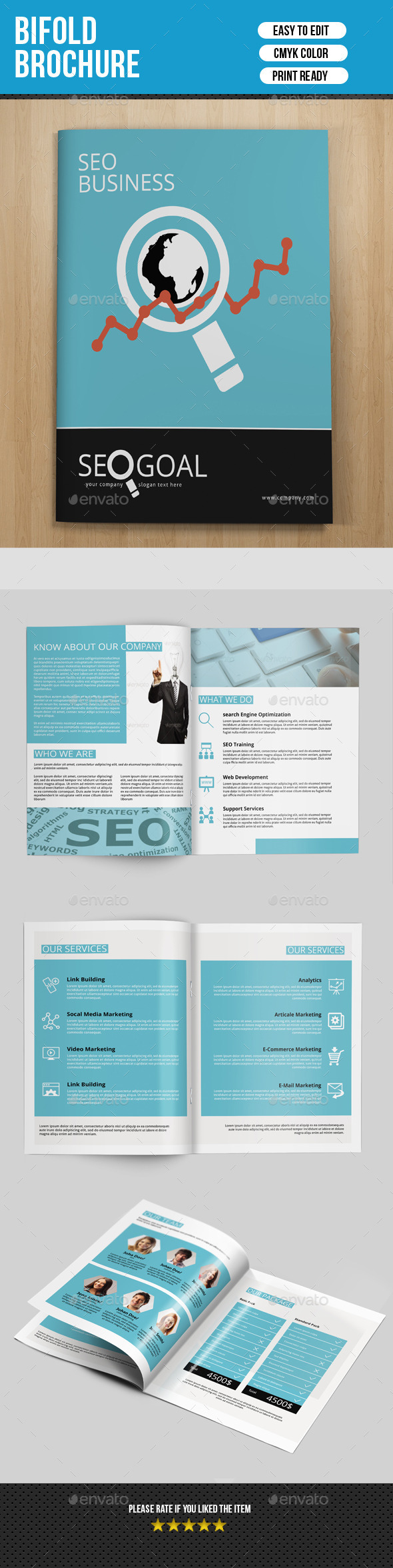 8 Pages SEO Business Brochure-V172 - Corporate Brochures