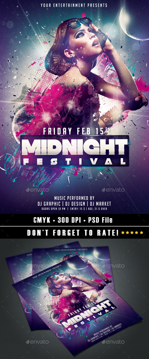 Midnight Festival - Events Flyers