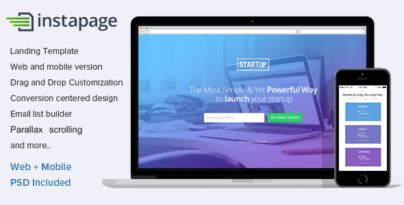 Instapage Landing Page Template for Startups - Instapage Marketing