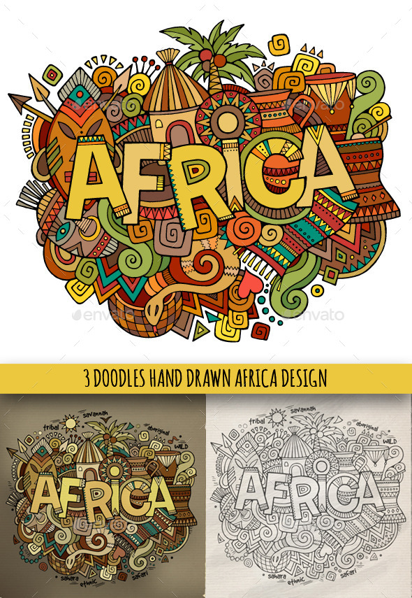 Africa Doodles Designs - Travel Conceptual