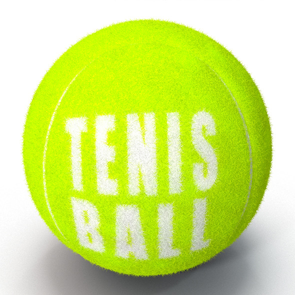 Tenis Ball Fur&Furry - 3DOcean Item for Sale