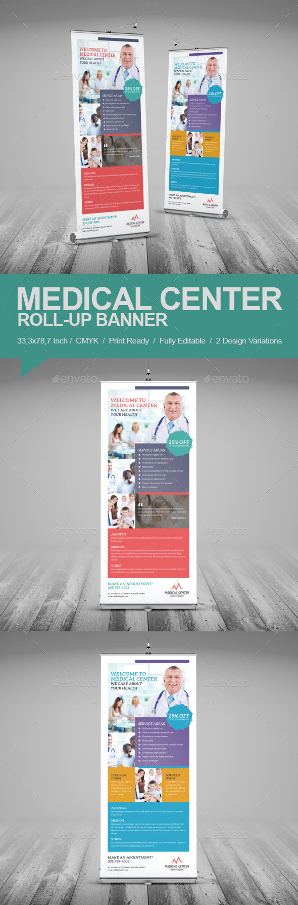 Medical Center Roll-Up Banner - Signage Print Templates