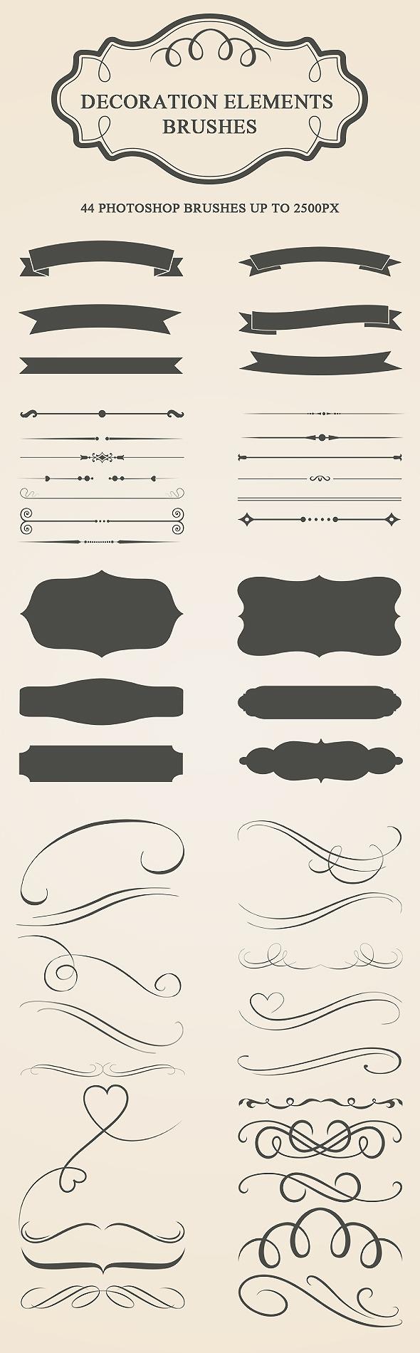 Decoration Elements Brushes - Artistic Brushes