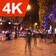 Champs Elysees, People, Night Christmas Lights 1 - VideoHive Item for Sale