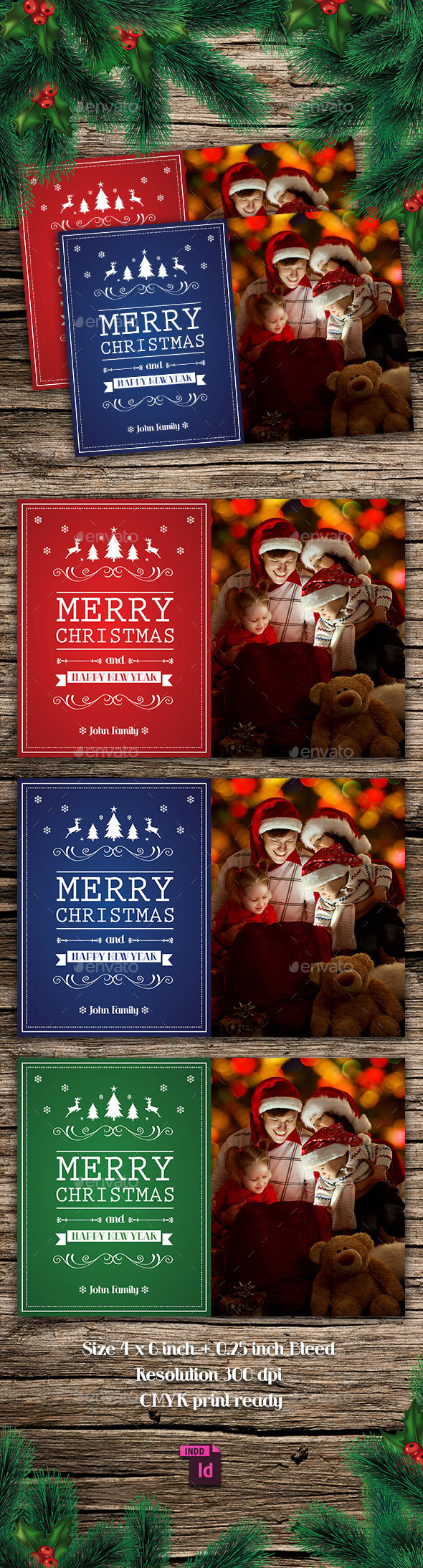 Christmas Card - Cards & Invites Print Templates