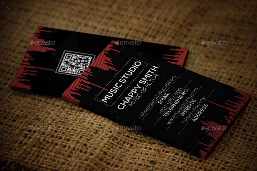 music studio business card by illuminatestyle
