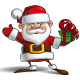 Happy Santa - Salute with a Gifts - GraphicRiver Item for Sale