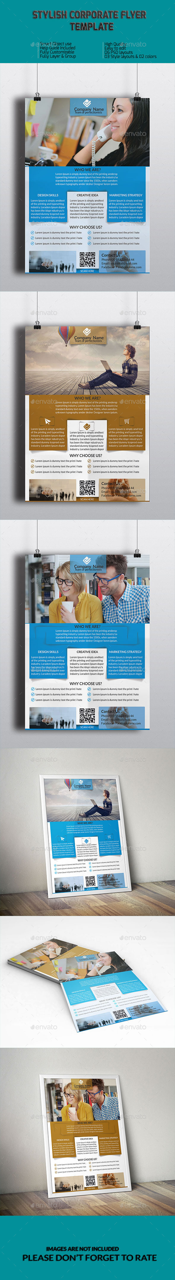 Stylish Corporate Flyer Template - Corporate Flyers