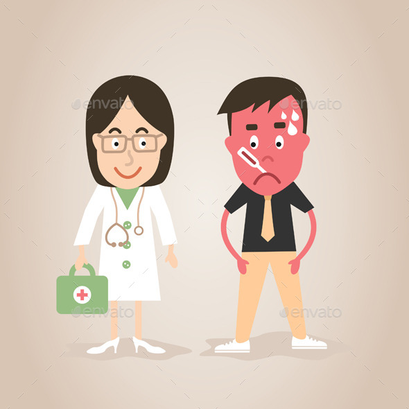 Doctor and Patient - People Characters