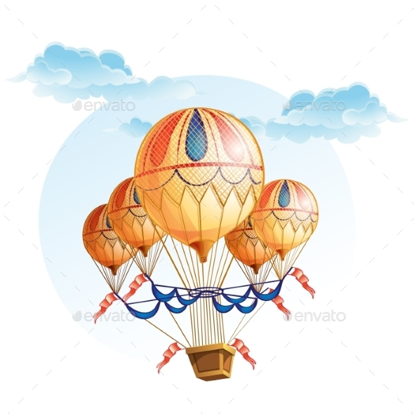 Image of a Hot Air Balloon in the Sky - Travel Conceptual