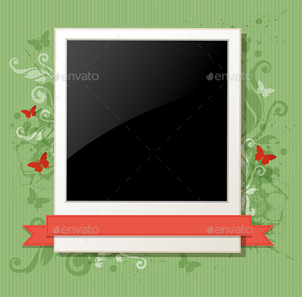 Green  Background with Photo - Backgrounds Decorative