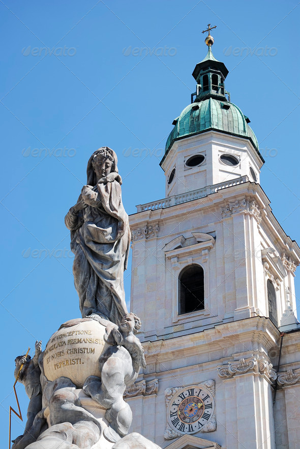 Salzburg cathedral - Stock Photo - Images