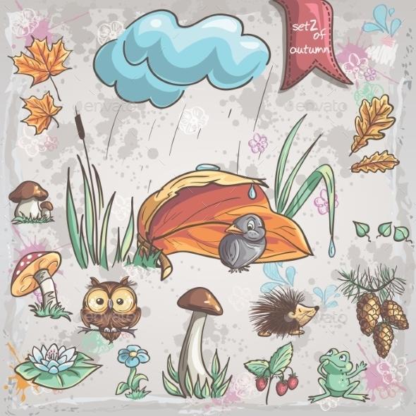 Autumn Animal and Nature Set  - Seasons Nature