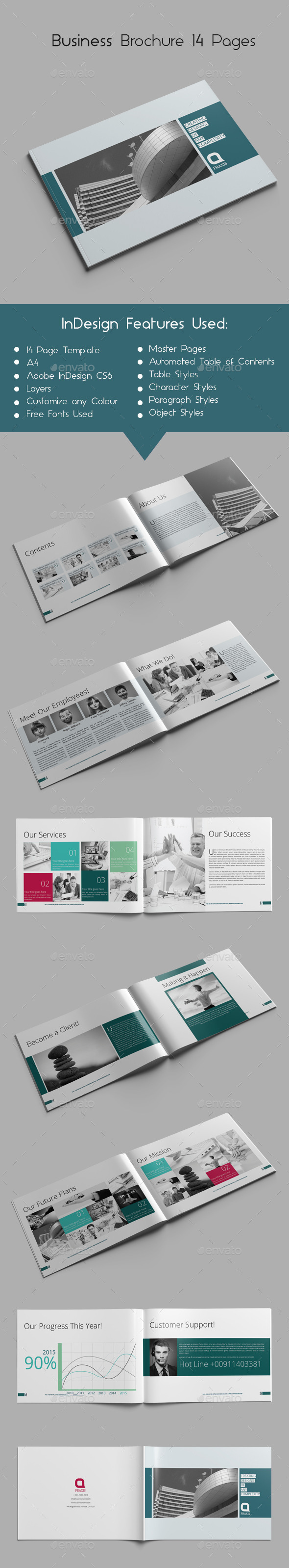 Business Brochure 14 Pages - Brochures Print Templates
