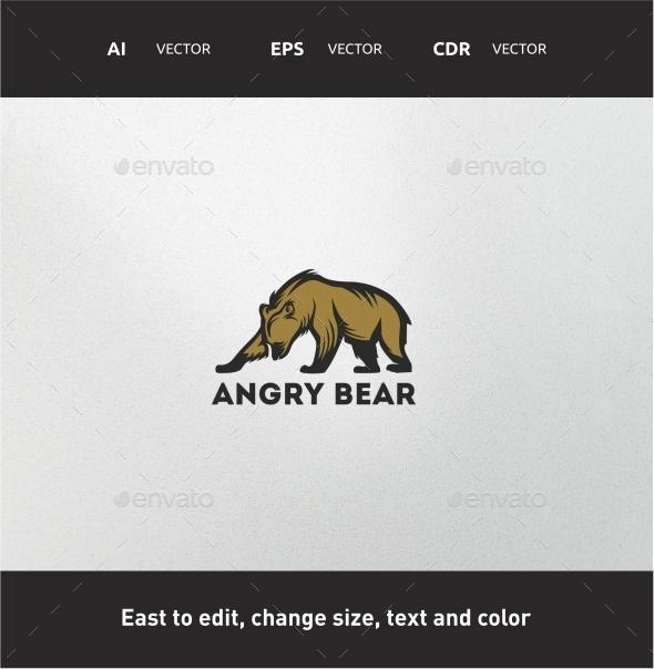 Angry Bear - Animals Logo Templates