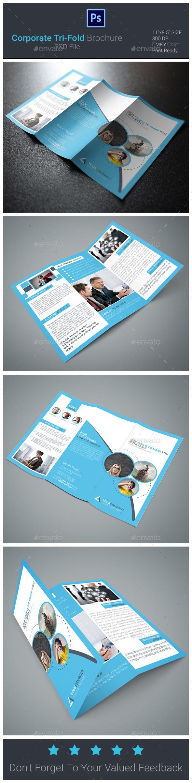 Corporate Tri-Fold Brochure  Flyer - Corporate Brochures