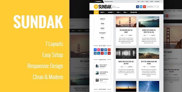 Sundak – Blog and Magazine Theme