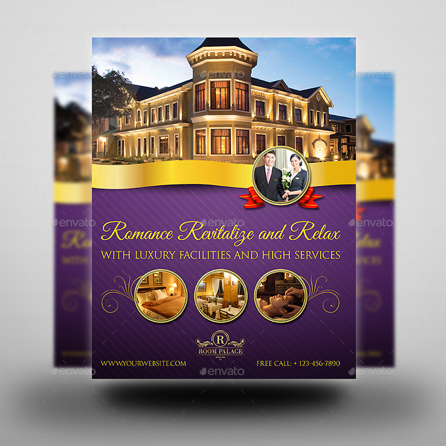Hotel Flyer Template by OWPictures – Hotel Brochure Template