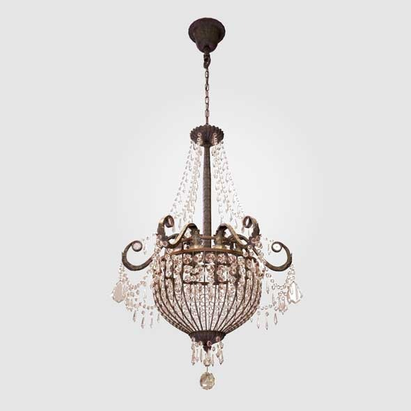 Chandelier Paris Flea - 3DOcean Item for Sale