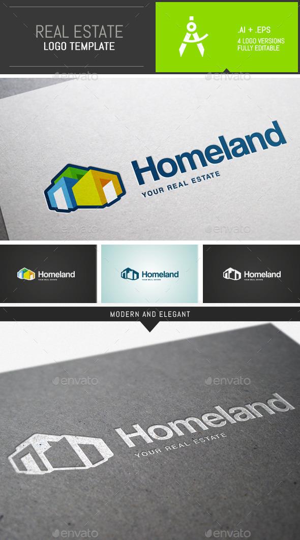 Modern Real Estate Logo Template - Buildings Logo Templates