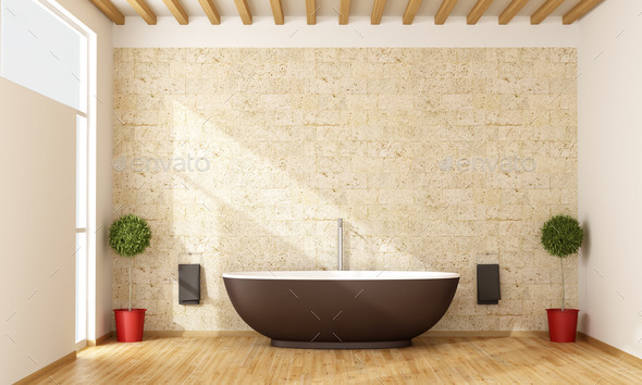Contemporary bathroom - Stock Photo - Images