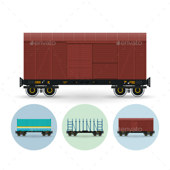 Set of Freight Cars - Industries Business