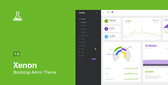 Xenon – Bootstrap Admin Theme with AngularJS