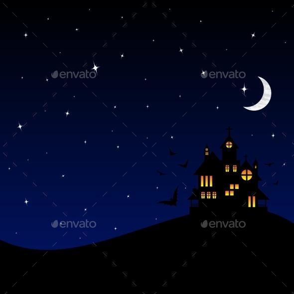 Halloween Castle at Night - Halloween Seasons/Holidays