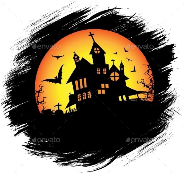 Halloween Castle with Sun - Halloween Seasons/Holidays