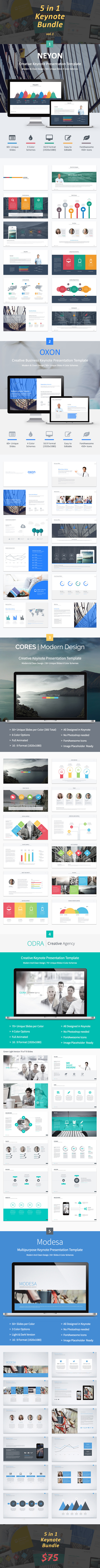 5-in-1 Keynote Bundle - Keynote Templates Presentation Templates