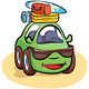 Traveling Car Cartoon - GraphicRiver Item for Sale
