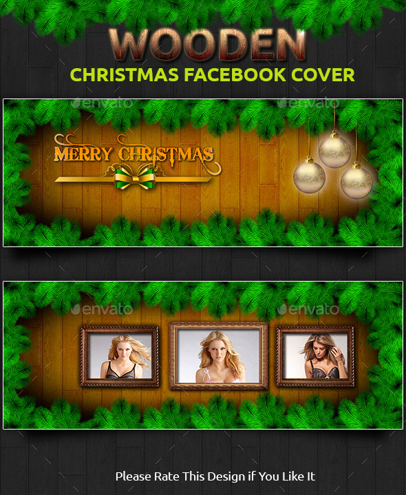 Wooden Christmas Facebook Cover - Facebook Timeline Covers Social Media