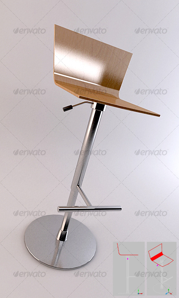 SET 01 - Bar Stool 3 - 3DOcean Item for Sale