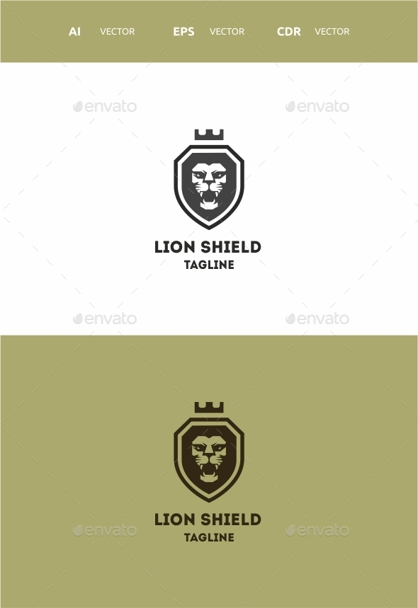 Lion Shield - Symbols Logo Templates