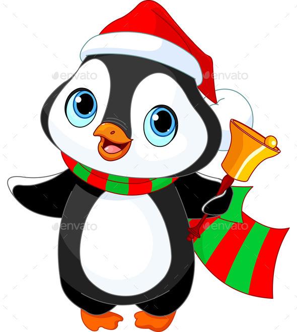 Christmas Penguin  - Christmas Seasons/Holidays