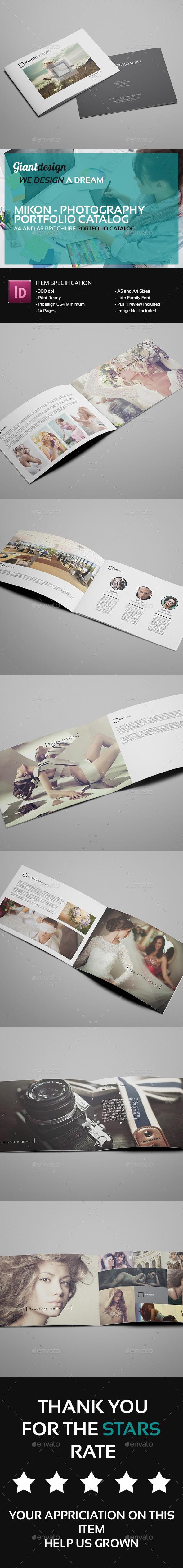 Mikon - Photography Portfolio Catalog - Portfolio Brochures